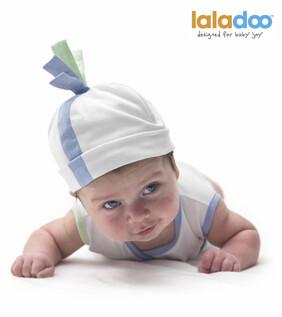 Laladoo - Daffi Baby Beanie - Blue & Green