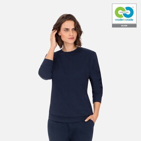 Women's Navy Long Sleeve Sweat Shirt - 2020